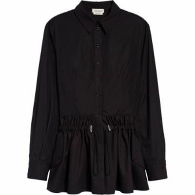アレキサンダー マックイーン ALEXANDER MCQUEEN レディース ブラウス・シャツ トップス Hybrid Peplum Cotton Poplin Shirt Black