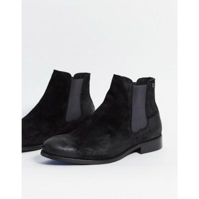 ジャック アンド ジョーンズ Jack & Jones メンズ ブーツ チェルシーブーツ シューズ・靴 Jack and Jones suede chelsea boots チャコールグレー