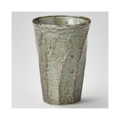 和食器 ラ270-137 わび うぐいす ねじりカップ