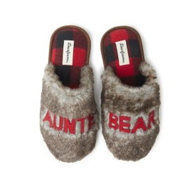 ディアフォームズ レディース サンダル シューズ Women's Furry Auntie Bear Scuff Matching Family Slippers Brown Frost