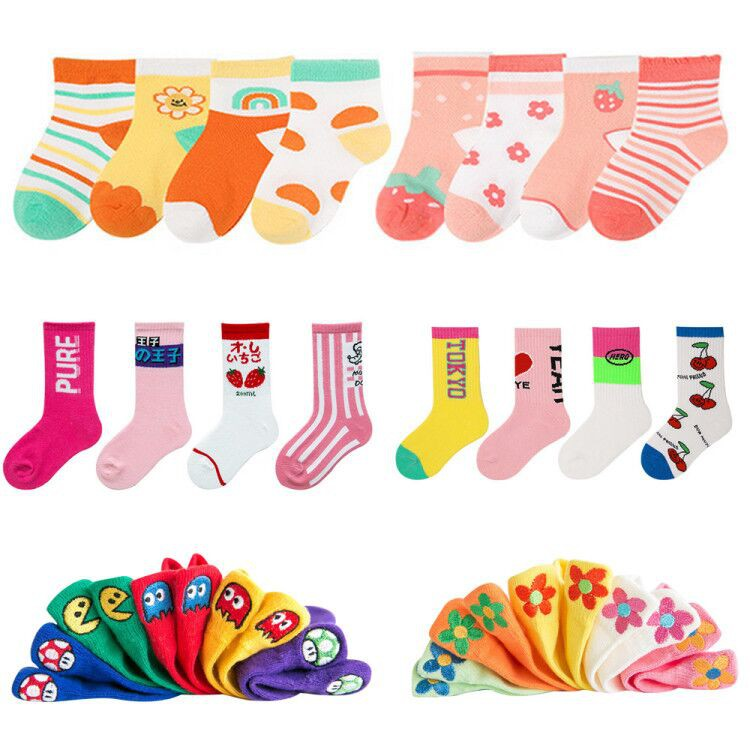 Baby童衣 兒童襪子(3-12歲) 超值組合多雙入童襪 夏季透氣網眼襪 純棉男女童襪 88263