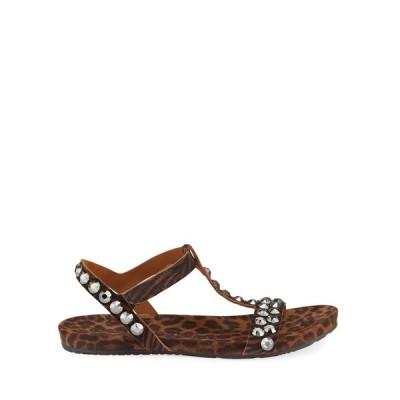 ペドロガルシア レディース サンダル シューズ Jeril Animal-Print Crystal T-Strap Sandals
