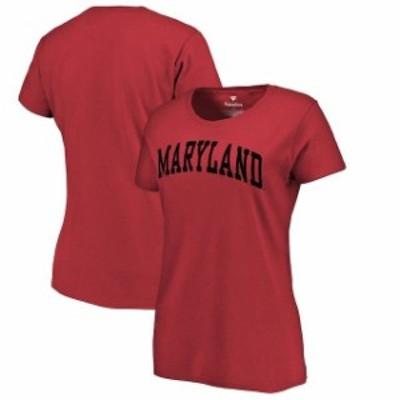 Fanatics Branded ファナティクス ブランド スポーツ用品  Fanatics Branded Maryland Terrapins Womens Red Basic Arc