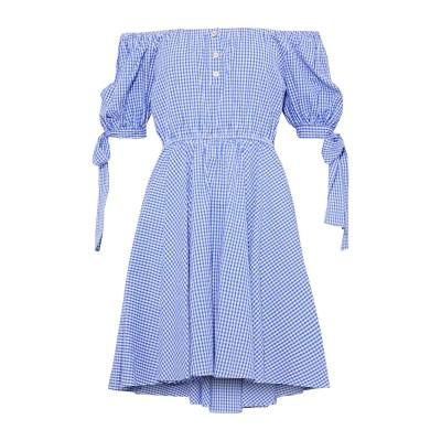 CAROLINE CONSTAS ミニワンピース&ドレス アジュールブルー S コットン 100% ミニワンピース&ドレス
