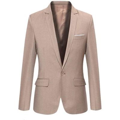 ジャケット メンズ テーラード スーツ生地 新品 アウター メンズ スーツ 上着 オフィス トレンド (NAIL39) (ベージュ クリーム色、2XL