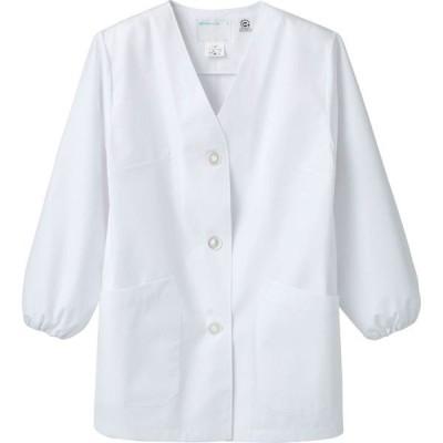 住商モンブラン MONTBLANC(モンブラン) 調理衣 レディス 長袖 エコ 白 3L 1-411(直送品)