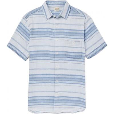 ファレティ FAHERTY メンズ シャツ トップス striped shirt Sky blue