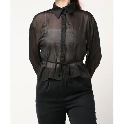 FIG&VIPER / ウエストリボンシアーシャツ WOMEN トップス > シャツ/ブラウス
