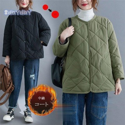 キルティングコーコート キルティング ショートコート 短い ジャケット トップス レディース 長袖 無地 保温 ゆったり 体型カパー 防寒 カジュアル風 シンプル