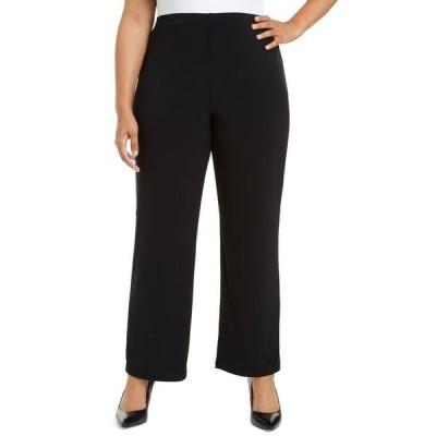 アルファニ レディース カジュアルパンツ ボトムス Plus Size Pull-On Wide-Leg Pants