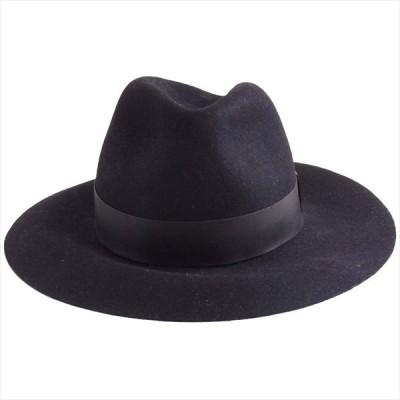 キジマタカユキ KIJIMA TAKAYUKI 1110111 RABBIT HAIR FELT HAT ラビットファー フェルト ハット 帽子 黒系 3【中古】