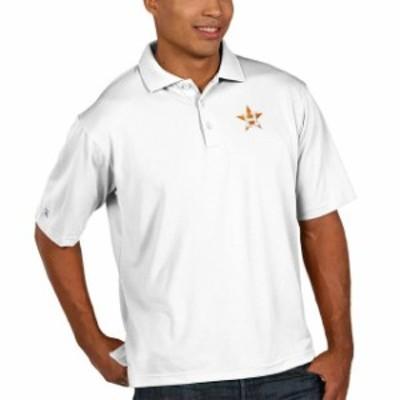 Antigua アンティグア スポーツ用品  Antigua Houston Astros White Pique Xtra Lite Big & Tall Polo
