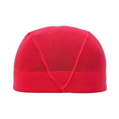 アスナロ(帽子・キャップ) 水泳帽 子供 メッシュ キッズ ジュニア 無地L(54-59cm) 赤