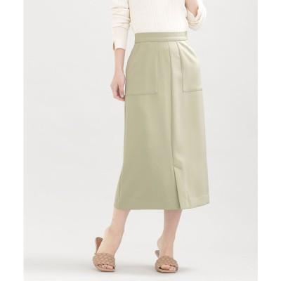 WEB限定/スリットタイトスカート ミント2
