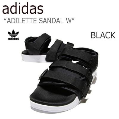 adidas ADILETTE SANDAL W BLACK アディダス ベルクロ サンダル スポサンS75382