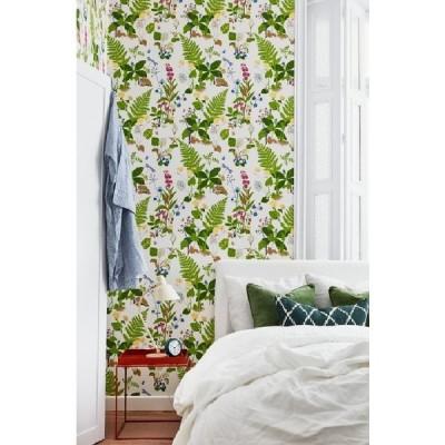 壁紙  張り替え おしゃれ 輸入  おすすめ 輸入壁紙 SBT-1788 カラフル 草花 GOCKENJOBS TROLL-SLANDA スウェーデン クロス 10m