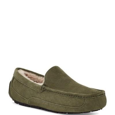 アグ メンズ サンダル シューズ UGG Men's Ascot Suede Moc-Toe Slippers Burnt Olive
