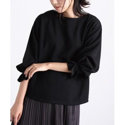ViS / 袖口タックポンチプルオーバー WOMEN トップス > Tシャツ/カットソー