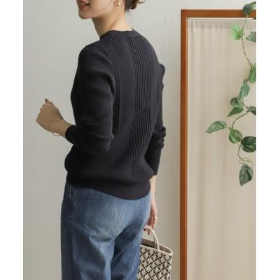URBAN RESEARCH DOORS / ランダムリブクルーネックニット WOMEN トップス > ニット/セーター