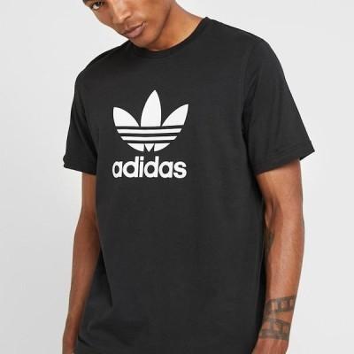 アディダス メンズ ファッション TREFOIL UNISEX - Print T-shirt - black