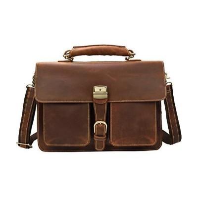 大容量 ビジネスバッグ 本革 メンズ ビンテージ ラップトップバッグ 自立 ブリーフケース 2室 通勤バッグ ビジネス鞄 B4 15.6インチPC収納
