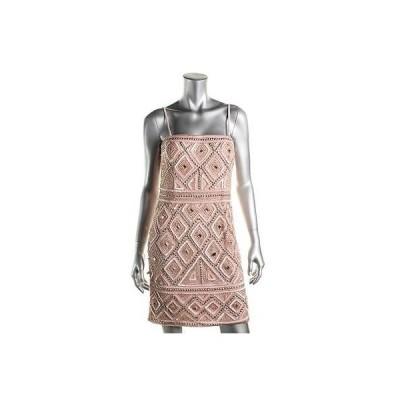 ドレス 女性  アドリアナパぺル Adrianna Papell 2025 レディース ピンク mesh ストラップless Semi-Formal ドレス 6