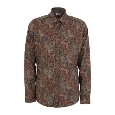 UNGARO シャツ ダークブラウン 41 コットン 100% シャツ