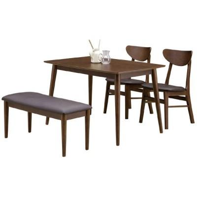 ダイニングテーブルセット ダイニングセット テーブル幅120cm 4人掛け 4点セット MDF ラバーウッド 食卓セット 座面 合成皮革 PVC