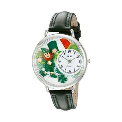 セント・パトリック アイルランドの国旗 緑レザー シルバーフレーム時計 #U1224001