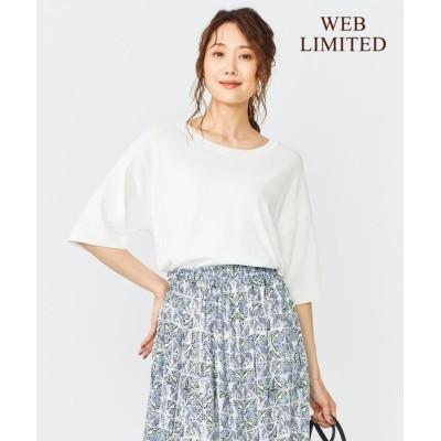 【組曲】 ドライタッチニット ニットTシャツ レディース アイボリー系 F KUMIKYOKU