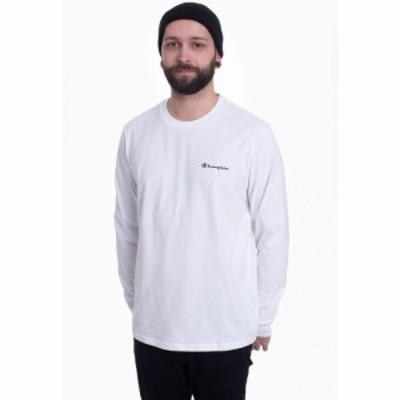 チャンピオン Champion メンズ トップス - Long Sleeve White - Longsleeve white