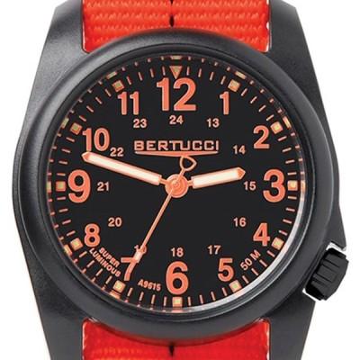 Bertucci 11042 DX3 Field Resin Dash-Striped Drab Orange Nylon Strap Bl
