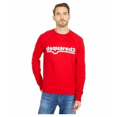 ディースクエアード パーカー・スウェットシャツ アウター メンズ Raglan Fit Fade Dyed Sweatshirt Red