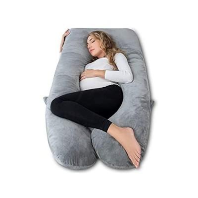 特別価格ANG QiのU型フルボディサポートベッド枕フル長妊娠枕の女性マタニティ快適サポートクッション Oversize グレー好評販売中
