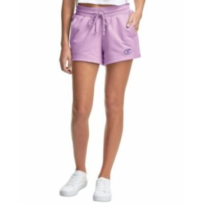 チャンピオン レディース ハーフパンツ・ショーツ ボトムス Women's High-Waist Drawstring Shorts Tinted Lavender