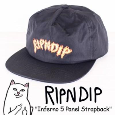 RIPNDIP リップンディップ Inferno 5 PANEL Strapback CAP ストラップバック キャップ ファイヤーパターン メンズ レディース