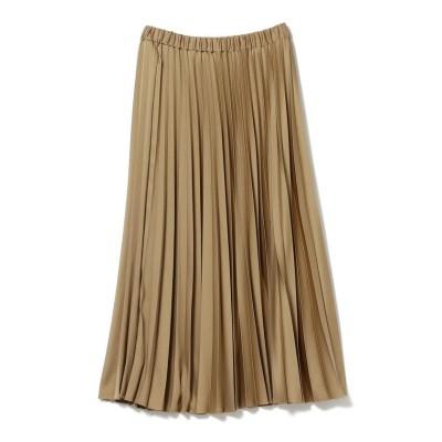 【ビームス ウィメン】 Demi-Luxe BEAMS / サテン プリーツスカート レディース MOCHA 36 BEAMS WOMEN