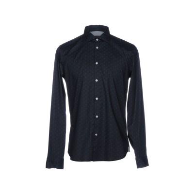 マニュエル リッツ MANUEL RITZ シャツ ダークブルー 41 98% コットン 2% ポリウレタン シャツ