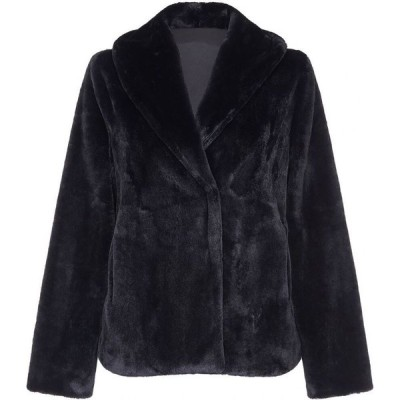 ユミ Yumi レディース ジャケット アウター short fur jacket Black