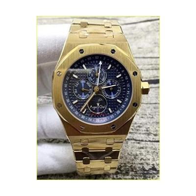 【新品・未使用品】GFDSA 自動巻き腕時計高級ブランドメンズウォッチ自動巻きメカニカルGMTムーンフェイズサフ