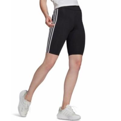 アディダス レディース ハーフパンツ・ショーツ ボトムス Women's High-Waisted Biker Shorts PrimeBlue Black