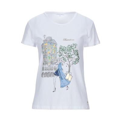 パトリツィア ペペ PATRIZIA PEPE T シャツ ホワイト 1 コットン 100% / ガラス T シャツ