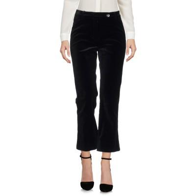 VIA MASINI 80 パンツ ブラック 42 コットン 99% / ポリウレタン 1% パンツ