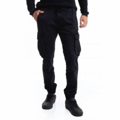 リール REELL メンズ カーゴパンツ ボトムス・パンツ - Reflex Rib Cargo Black Denim - Pants black