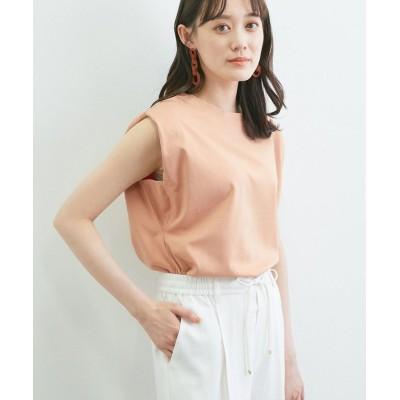 (ViS/ビス)【星玲奈さんコラボ】ショルダーパットフレンチTシャツ/レディース オレンジ(70)