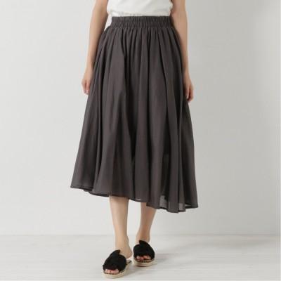 コットンボイルのフレアスカート