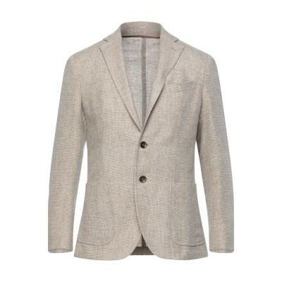 パオローニ PAOLONI テーラードジャケット ベージュ 48 バージンウール 80% / コットン 20% テーラードジャケット