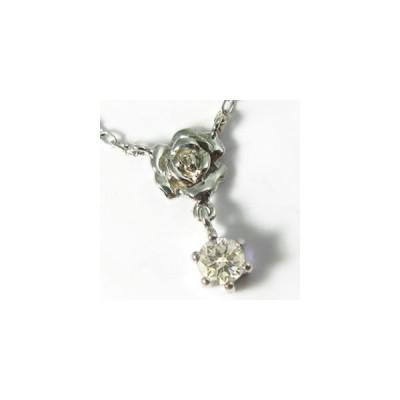 ダイヤモンド ペンダント K18ゴールド ネックレス 薔薇 ダイヤネックレス