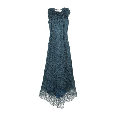 PE' DE CHUMBO ロングワンピース&ドレス ブルー L ポリエステル 100% ロングワンピース&ドレス