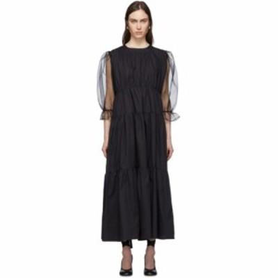 ル プティ トルー Le Petit Trou レディース ワンピース ワンピース・ドレス Black Felines Dress Black